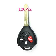 100Pcs 4 Buttons Remote Key Case For Toyota Avalon Corolla Matrix Yaris RAV4 Fob