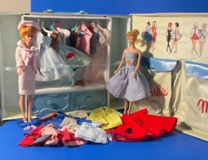 Vintage Barbie and mixed lot of clothing, accessories and carrying case