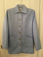 Lilly Pulitzer Women's Sz XS Vintage Quilted Light Blue Barn Field Jacket Coat