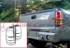 1999-2002 Silverado/Sierra Tail Light Chrome Guard Cover Accent Bezel 2PC