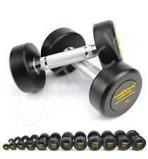 2,5KG TO 30KG CIRCULAR RUBBER ENCASED DUMBBELLS HOME GYM WORKOUT WEIGHT LIFTING