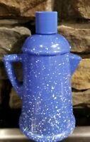 Avon Soap Dispenser Blue Country Style Coffee Pot Moisturized Hand Lotion EMPTY
