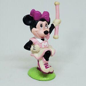 Vintage Minnie Mouse Cheer Baton PVC Figure Disney Applause Cake Topper