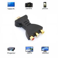 Hdmi Male to 3 Rca Female Composite Av Audio Video Adapter Converter for Tv Hot