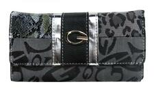 Patchwork Design G Monograms Grey CheckBook Wallet