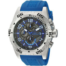 Invicta 24710 Men's Charcoal Dial Blue Silicone Strap Chrono Watch