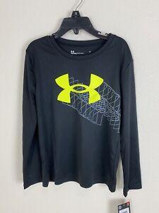 UNDER ARMOUR Kids Long Sleeve Shirt Size 6 ..Reg. $ 40 Black