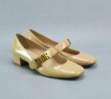 Christian Dior Beige Patent Leather Baby-D Ballet Pumps 37 US7