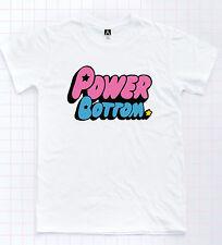 Power Bottom T-shirt Puff Girls Cartoon Tee Gay Pride LGBT Drag Race