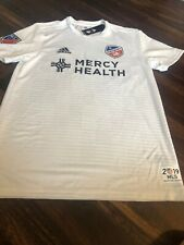 New Adidas Mens FC Cincinnati Soccer Replica Jersey Size XL White Black 2019