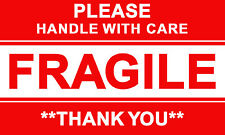 100 X Please Handle With Care Fragile Thank You Label Stickers