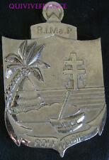 TB006 - MEDAILLE PLAQUE Régiment d'Infanterie de Marine POLYNESIE