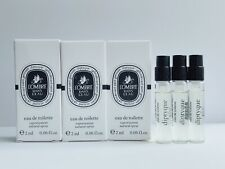3 x Diptyque L'ombre Dans L'Eau Eau De Toilette Sample Spray 0.06oz/2ml each
