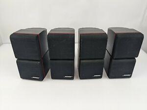 (4) Black Bose Double Cube Speakers Redline
