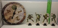 TMNT Movie Game Spinner & 4 Tokens Movers Used  Replacement Part 2007