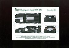2006 (DEC) APEX MOTORSPORT JAGUAR XKR GT3 PROMOTIONAL CARD