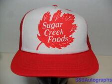 Vintage SUGAR CREEK FOODS Frozen Yogurt ICE CREAM Advertising SNAPBACK Hat Cap