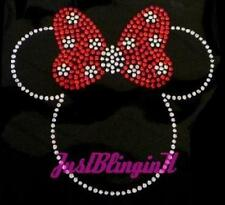 Minnie with Bow Rhinestone Iron On Transfer Bling