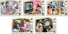 Singapore stamps - 2013 Television 50 Years communication theme 5v