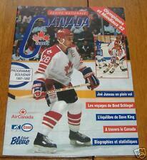 team canada  souvenir program 1991-92
