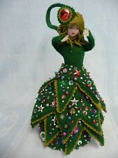 Constance Muller Christmas Tree Doll Purse - Hand Made - One Of A Kind