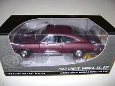 *RARE* Ertl 1/18 1967 Chevrolet  Impala SS 427 *Plum - Authentic*