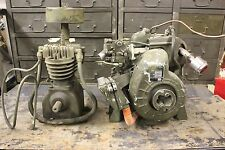 Military Gasoline Engine 1A08-III  1 cyl 4 cycle 8 cu in with Compressor Unit