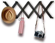 Expandable Wooden Coat Rack Hanger – Wall Mounted Pine Wood Hooks