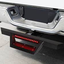 """Universal Trailer Tow/Towing Hitch Step Bar w/LED Brake Light 2""""Receiver Black"""
