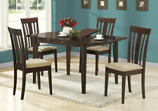 """Monarch Specialities Dining Table - 36""""X 48"""" X 60"""" /  Cappuccino With A Leaf"""