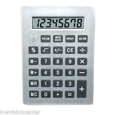 Jumbo Talking Calculator Basic, Large Print Buttons, Low Vision, Speaks English