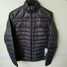 NWT Men's Spyder Puffer Down Prymo Black Warmth and Lightweight Jacket - Size L