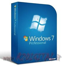 WINDOWS 7 PROFESSIONAL ESD SP1 DVD + ADESIVO PRO SEVEN 32 64 MICROSOFT ORIGINALE