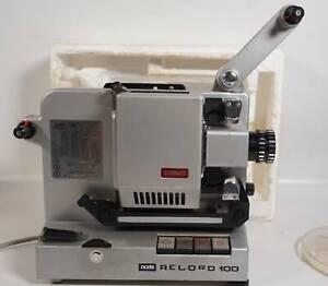 Vintage NORIS Filmprojektor Super 8 Single 8 Record 100 Automatic mit OVP