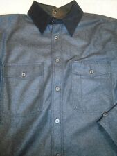 rag & bone Wool Blend Twill Jack Shirt Over-Shirt NWT Medium $595 Charcoal Gray