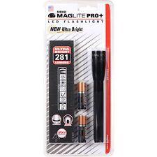 MINI MAGLITE AA LED PRO + 281 lumen-fascio 167m NERO-PRO Plus Nuovo di Zecca
