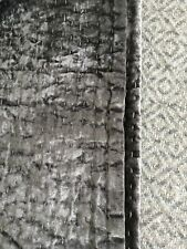 Restoration Hardware Velvet Pick Stitch Quilt, Full/Queen, Greystone 99