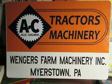 Allis Chalmers Dealer Sign Nice Reproduction