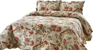 Patch Magic Quilt Set Oversized Finch Orchard Bed in a Bag Set KING Size  NEW