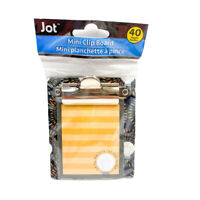 "Jot Shining Light Bulb Mini Clipboard With Notepad 40 Sheets 3.25"" x 3.50"""