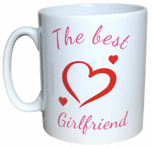 The Best Girlfriend Mug. Mugs For Valentines, Christmas Gifts For Girlfriends