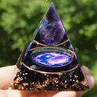 Amethyst Crystal Sphere Orgonite Pyramid Obsidian Chakra Energy Orgone Stone Dec