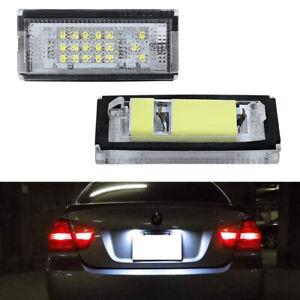 Xeon White LED License Plate Tag Light For BMW E46 4D Sedan 5D Touring 1998-2005