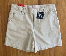 New listing Gap Kids Girls Size 8 School Uniform Khaki Midi Shorts with Adjustable Waist Nwt