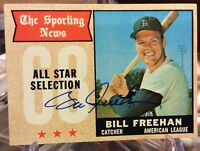 1968 Topps All-Star Sporting News Bill Freehan Signed Autograph Detroit Tigers