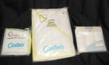 VTG UNISEX CARTERS BABY WASHCLOTH TOWEL TERRY SET WHITE YELLOW NEW