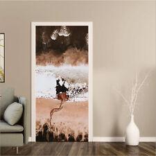 Glacier Door Stickers Self-Adhesive Bedroom Door Murals PVC Wall Poster Decals