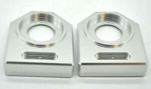 NEU Ducati Monster 1000 S4 Kettenspanner Achsplatte Schwinge Schutz silver
