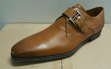 Magnanni Monk Strap AUTHENTIC loafer Sz 10.5-M Brown Leather casual Nwt $ 550