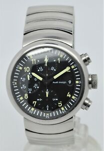 Audi Design - chronograph automatic (Val-7750) stainless-steel gents watch